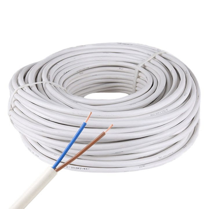 2-Pin 18AWG/2*0.75mm Single Color Copper Core RVV White PVC Jacket Waterproof Power Cable For High Power Single Color LED Strip Lighting, 3.28Ft/1m by sale