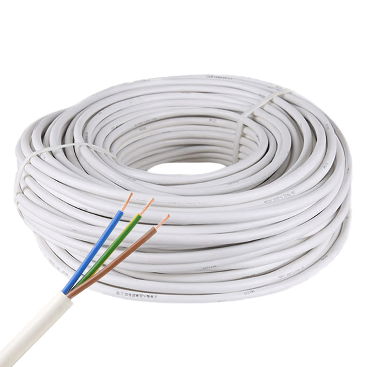 3-Pin 18AWG/3*0.75mm Copper Core RVV White PVC Jacket Waterproof Power Cable For High Power Color Temperature/Addressable 3 pin LED Strip Lighting, 3.28Ft/1m by sale