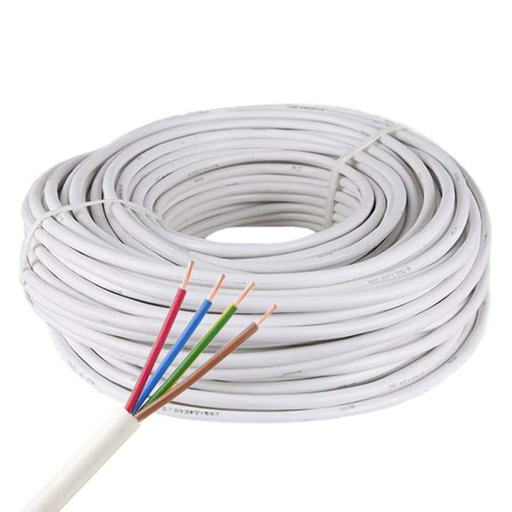 4-Pin 18AWG/4*0.75mm RGB Copper Core RVV White PVC Jacket Waterproof Power Cable For High Power RGB LED Strip Lighting, 3.28Ft/1m by sale