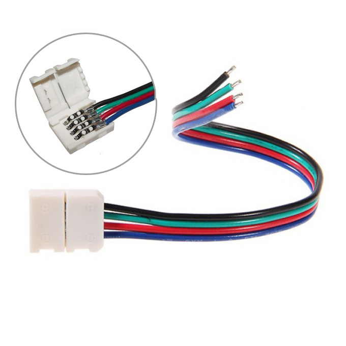 4Pin Color change RGB Flexible LED Strip Lights Fast Wire Cable Accesories Lenght 12cm