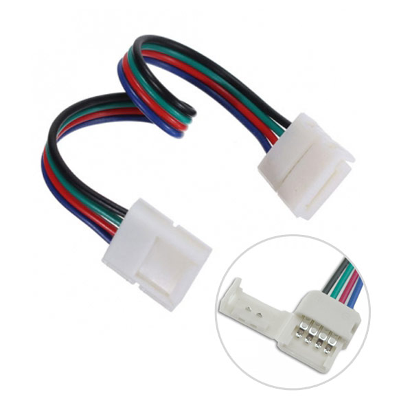 4Pin RGB LED Strip Lights Fast Conector to 4pin RGB LED Light Strips Fast Connector Lentgh 15cm Accessories
