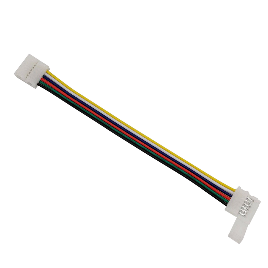 6pin RGB CCT LED Easy Connector 6 pin 12mm Width Solderless Adapter For RGB+CCT LED Strip Lights 2 Clip