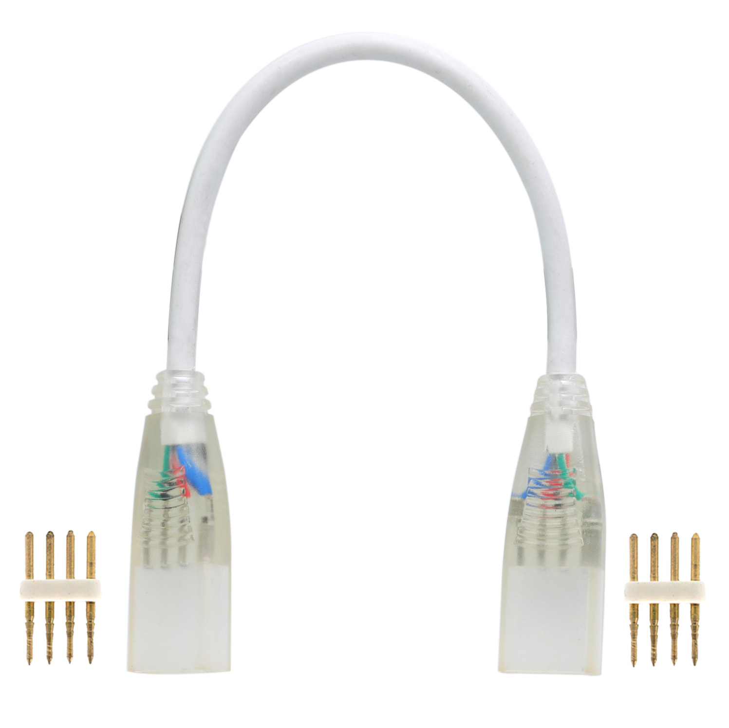High voltage RGB color changing 4pin double fast connector for 5050 RGB high voltage led strip ligths