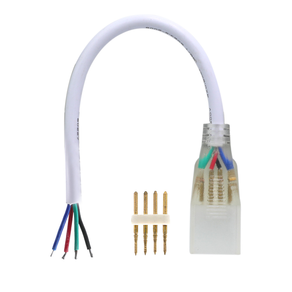 High voltage RGB color changing 4pin single fast connector for 5050 RGB high voltage led strip ligths
