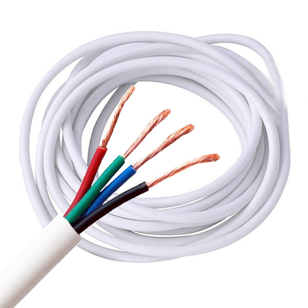 4pin RGB+ Power Wire Cable 1.0mm Copper Core For High voltage AC110/220V RGB Color change flexible LED Strip Lighting, 1meter by sale