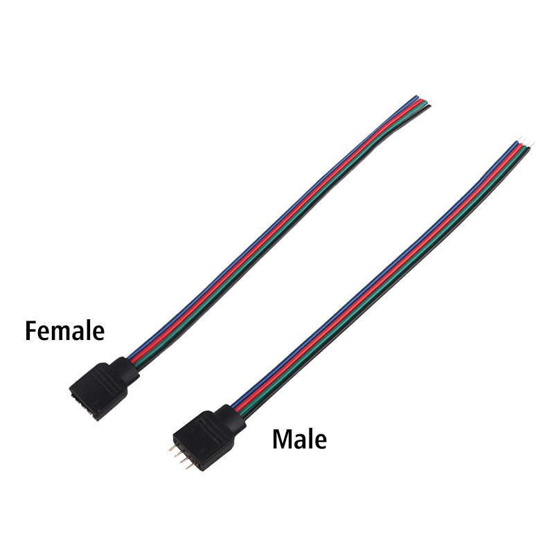 3.93 inch 4-Pin RGB 5-Pin RGBW Extension Wire Connector Electric Cable Cord For 5050 RGB/RGBW LED Strip Lights