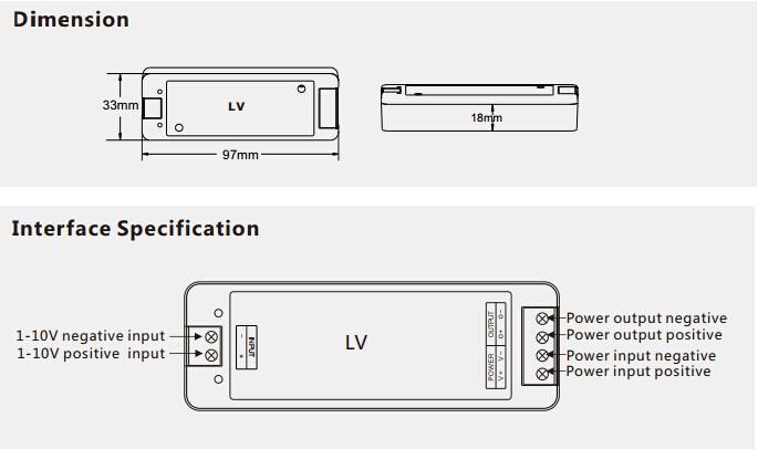 0 1 10v Constant Voltage Led Dimmer Lv L For Single Color