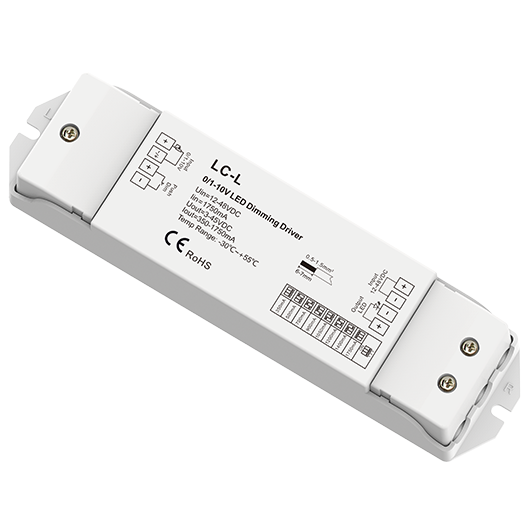 0/1-10V and Push-dim CC dimming driver LC-L For bright led strip lights