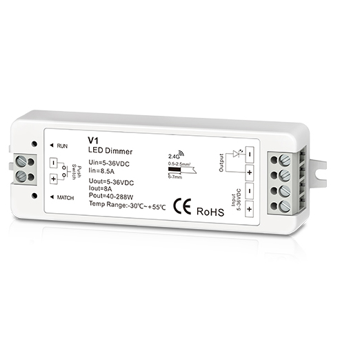 1CH 8A Constant Voltage RF 2.4G Receiver V1 For dimmable led strip lights