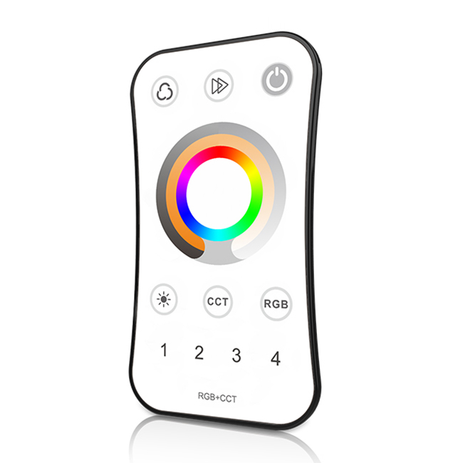 4 Zones RF 2.4G LED 5-in-1 Remote controllers R8-5 For RGB,RGBW or RGB,WW/NW led strip light installation