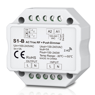 AC Triac RF Dimmer &Push Dimmer S1-B For solar powered led strip lights