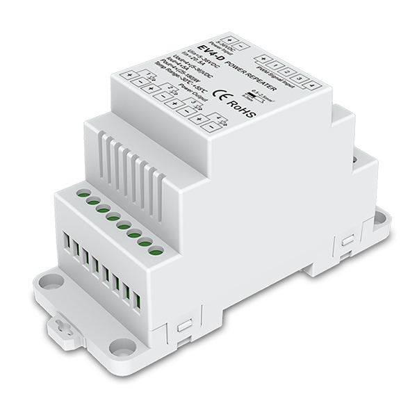 DC5-36V 4CH Din-rail Constant Voltage Power Repeater EV4-D For RGBW LED Strip Light