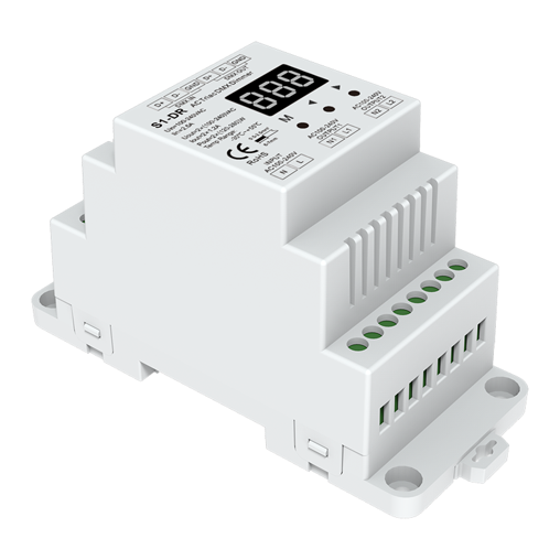 DIN rail AC Triac DMX Dimmer S1-DR For smart led strip lights