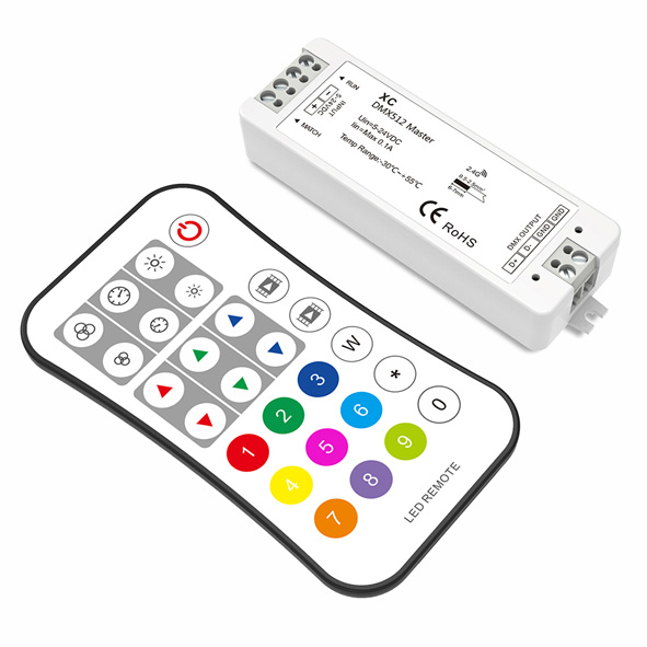 DMX512 Master Controller Set XC+R9 For LED strip lighting kit