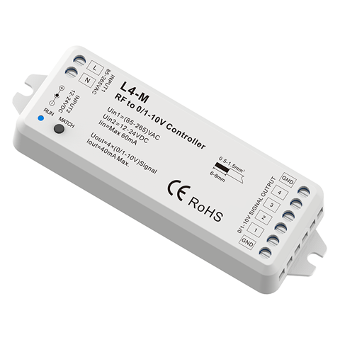 RF to 4 Channel 0-10V Dimmer L4-M For mini led strip lights