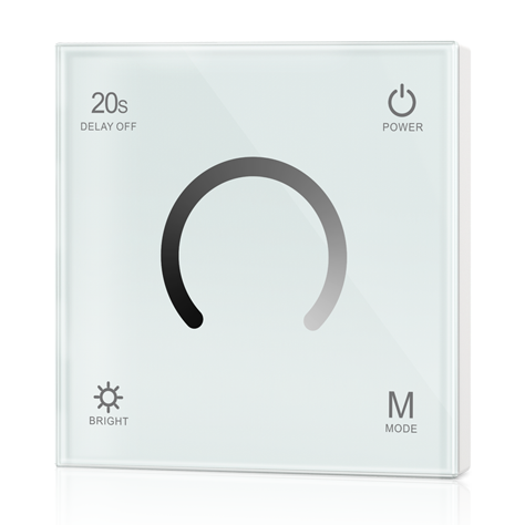Touch Panel Single Color LED Constant Voltage Controller T1 For Single Color LED Strip Light