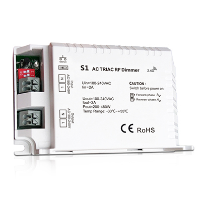 Triac RF Dimmer S1 For led strip lights battery pack