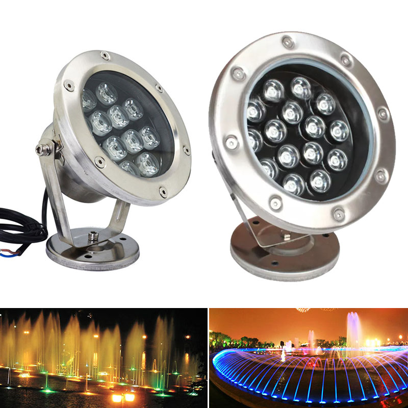 DMX512 Single Color RGB Color Changing IP68 Waterproof Rgb Led Underwater Light Swimming Pool Fountain Aquarium Fish Tank Pond Lamp