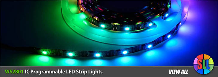 WS2801 IC Programmable LED Strips