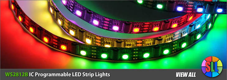 Ws2812b ic programmable led strip lightsg ws2812b dc5v series flexible led strip lights programmable pixel full color chasing indoor use 150leds 164ft per reel by sale aloadofball Choice Image