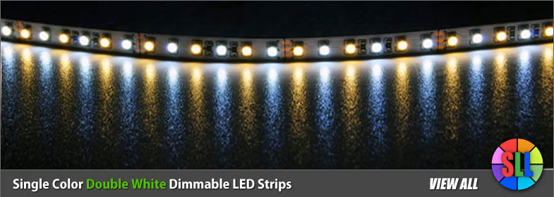 Dual white color dimmable led strips aloadofball Images