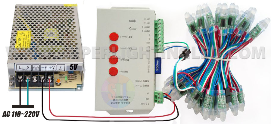 50w10a dc5v hulled led enclosed switching power supply with built in pfc pssm 5v 50w