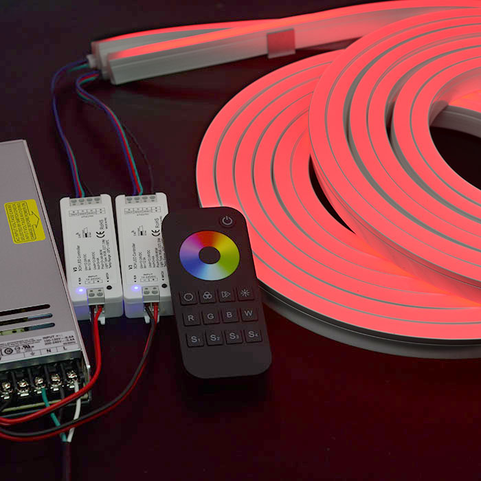 24vdc ultra thin rgb led neon light colorful changeable super bright