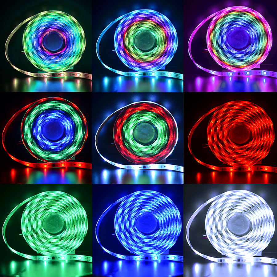 Color Chasing Alexa Led Strip Light Kit 328ft 10m Flexible 12v Addressable Wiring Diagram Rgb Rope Lights Working With Wifi Spi Music Timer Controller Support Ios