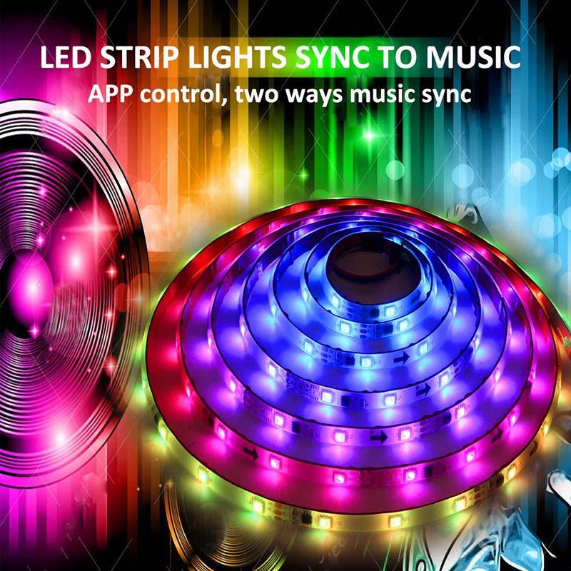 DC12V 5M/16 54ft 150 LEDs Lights Strip Bluetooth Smart Phone APP