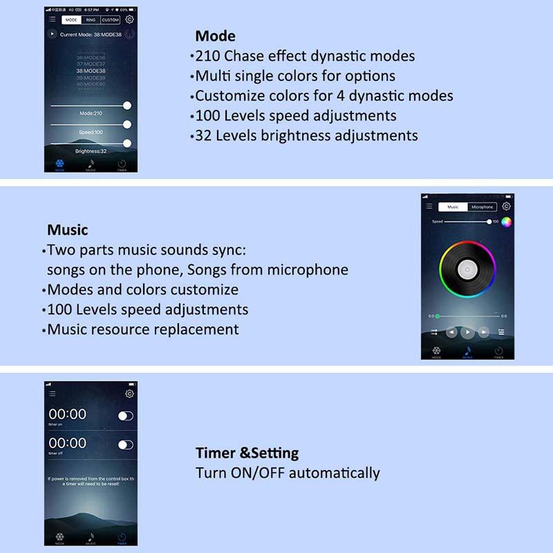DC12V 5M/16 54ft 150 LEDs Lights Strip Bluetooth Smart Phone