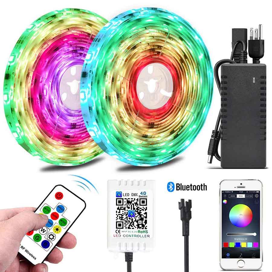 Color Chasing LED Strip Light Kits, 10M/32 8ft Rainbow