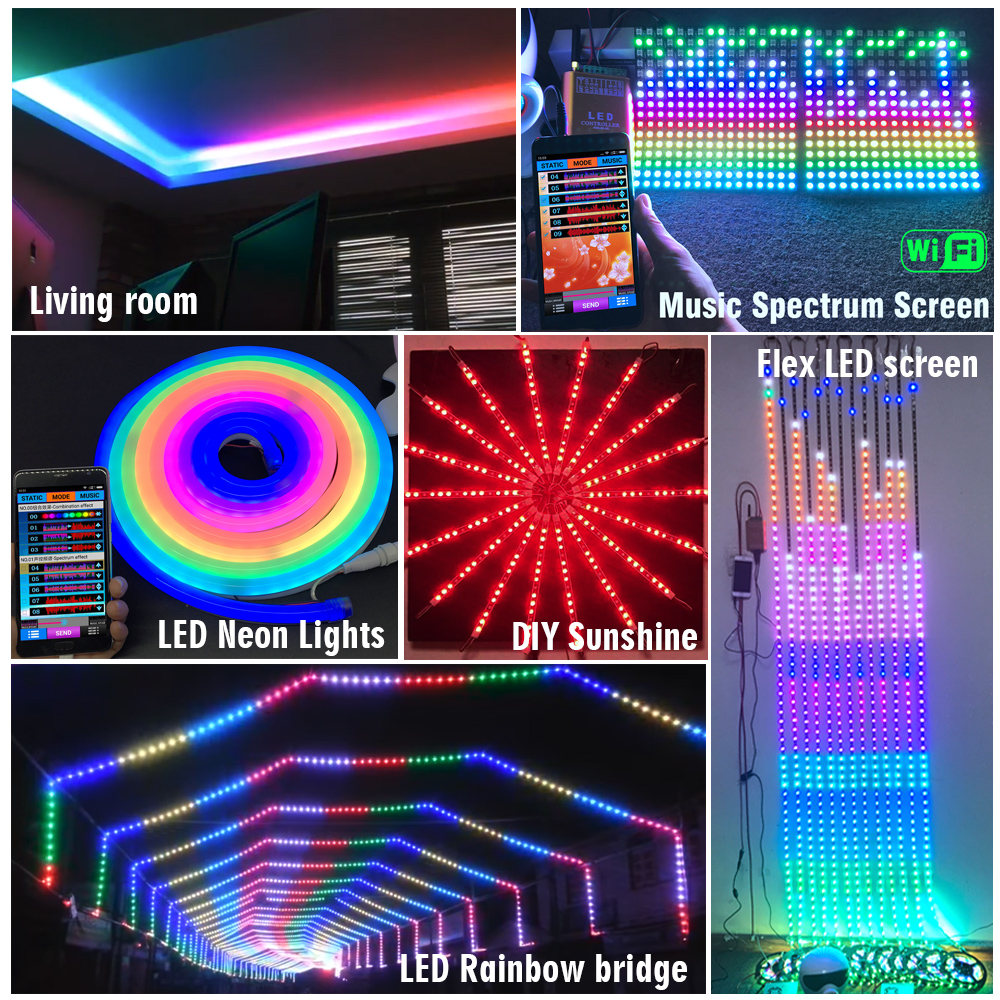 DC5-24V, One Channel, 2019 Newest LED WIFI Music Spectrum