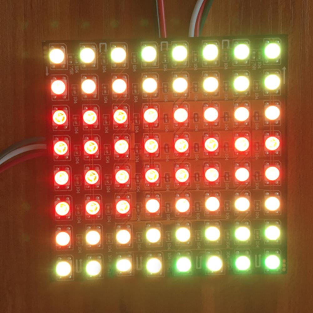 DC5V-12V LED Car Display Screen Red Programmable Image LED
