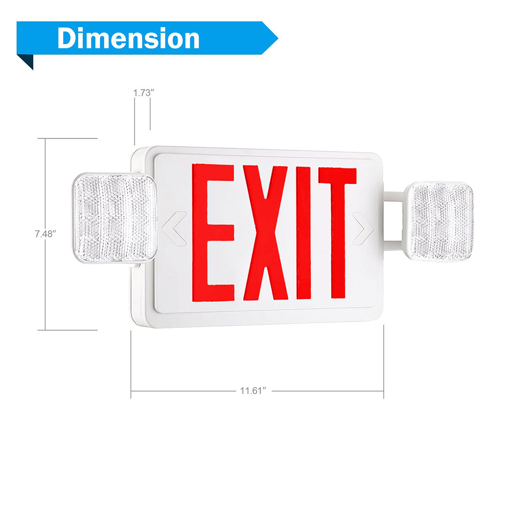 Exit Sign With Emered Emergency Exit Lights With Battery Backup 1 Pac B078w2shgd