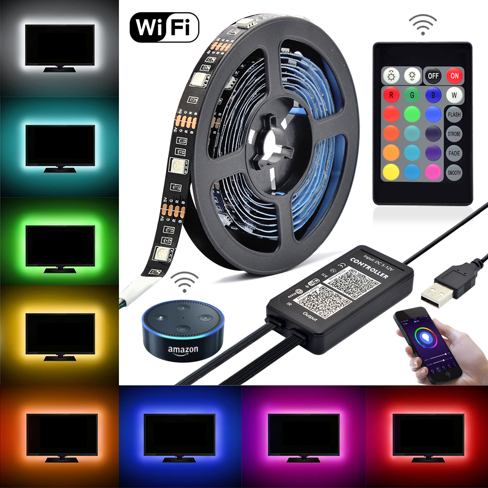Led Wi Fi Alexa Tv Backlight Kit 5vdc 6 56 Ft Multi Color