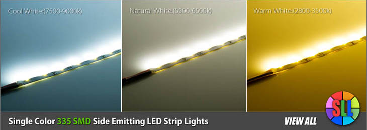 335 SMD Side Emitting LED Strip Lights